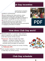club day incentives