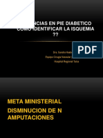 Urgencias en Pie Diabetico
