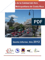 Quinto Informe Calidad de Aire GAM