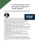 10 Reguli Pentru a Studia o Limba Straina