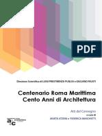 Centenario Roma Marittima Cento Anni Di Architettura Atti Del Convegno