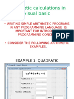 Arithmetic Calculations in Visual Basic