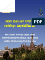 Recent Advances in Numerical Modeling of Deep Stabilized Soil