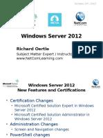 Server 2012 Webinar