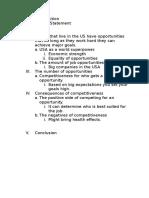 Essay #1 Formal Outline