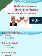3.Variații de Clasificare a Edentatiilor Şi Metode de Tratament