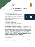 Bases Campeonato Aniversario 2015