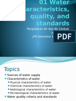 01 Water Characteristics, Quality, And Standards