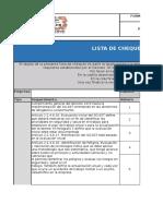 Formato  Lista Chequeo Documental  Según Decreto 1072 de 2015