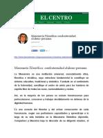 Masoneria Filosófica - Confraternidad Chileno Peruana