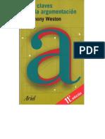 Las claves de la argumentación, de Anthony Weston (libro en pdf).pdf