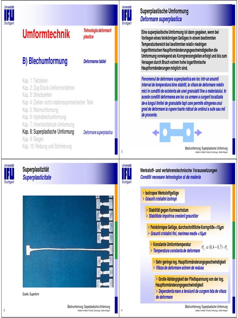 B 8 Superplastische Umformung
