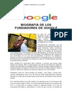 biografia de los fundadores  de GOOGLE