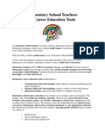 Elementary School Teachers & Career Education Tools