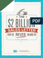 The 2 Billion Sales Letter