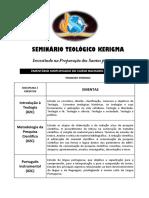 Seminário Teológico Kerigma Ementas p1