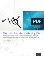 The Cost of Incidents Affecting CIIs