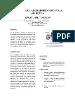 Informe de Laboratorio Torsion