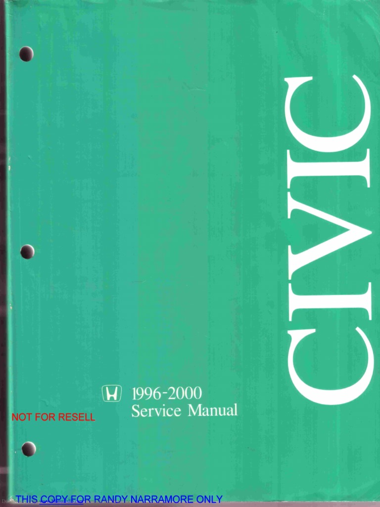 Civic Service Manual | Airbag | Vehicle Parts