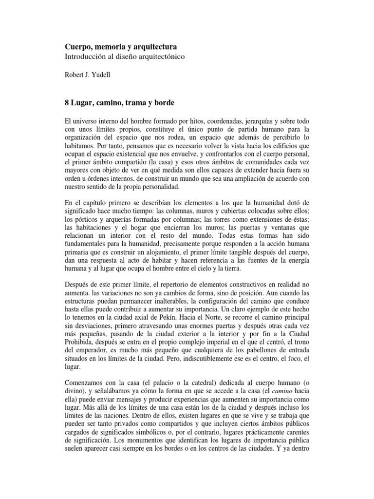 Bloomer-Moore. CUERPO, MEMORIA Y ARQUITECTURA (Fragmento- Yudell. 8 ...
