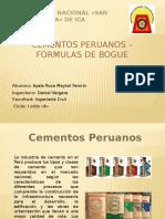 Cementos Peruanos - Formulas de Bogue