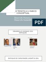Desarrollo Humano, Desarrollo Sostenible y Cooperación Internacional