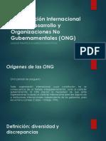 Cooparación internacional y  ONGD