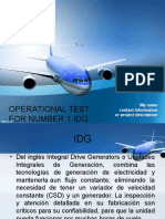 Operational Test for Number 1 Idg