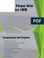 Inversion Parque Solar 1MW