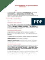 Factores Económicos Fundamentales Que Afectan Al Comercio Internacional