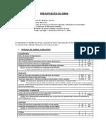 ALLEGRECHY Presupuesto de Obra 16.03.2017