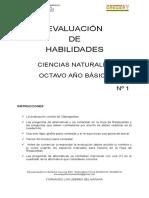 Evaluación Habilidades Cs. Naturales