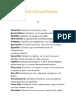 Diccionario Sexual Parafilias