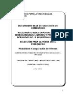 2 Dbsc- Venta de Crudo Reconstituido - Recon