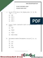 BITSAT 2007 Questions