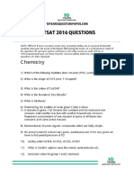 Bitsat 2016 Question Paper