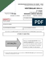 Uece-cev 2010 Uece Vestibular-Ingles Prova
