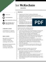 tmckechnie resume