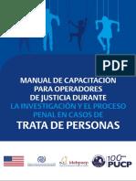 Idehpucp OIM Manual de Capacitación Trata Personas