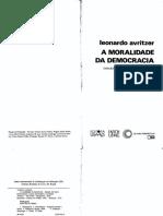 A Moralidade Da Democracia- Ensaios Em Teoria Habermasiana e Teoria Democrática- Leonardo Avritzer