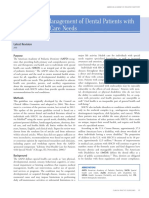 Guideline on Management of Dental Patients with Special Health Care Needs