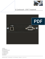 Interface Sheet - Ge Cardiosoft - Cpet Treadmill En