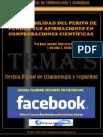 61 - Responsabilidad Del Perito de Fundar Sus Afirmaciones en Comprobaciones Científicas