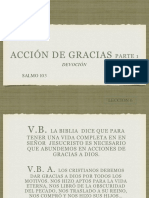 20170219 Leccion 6 Accion de Gracias I