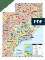 Tourism Toronto 2016 Map of Greater Toronto Area