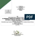 LA Herencia Semiotica Europea y Su Expresi{on Retorica. Mexi