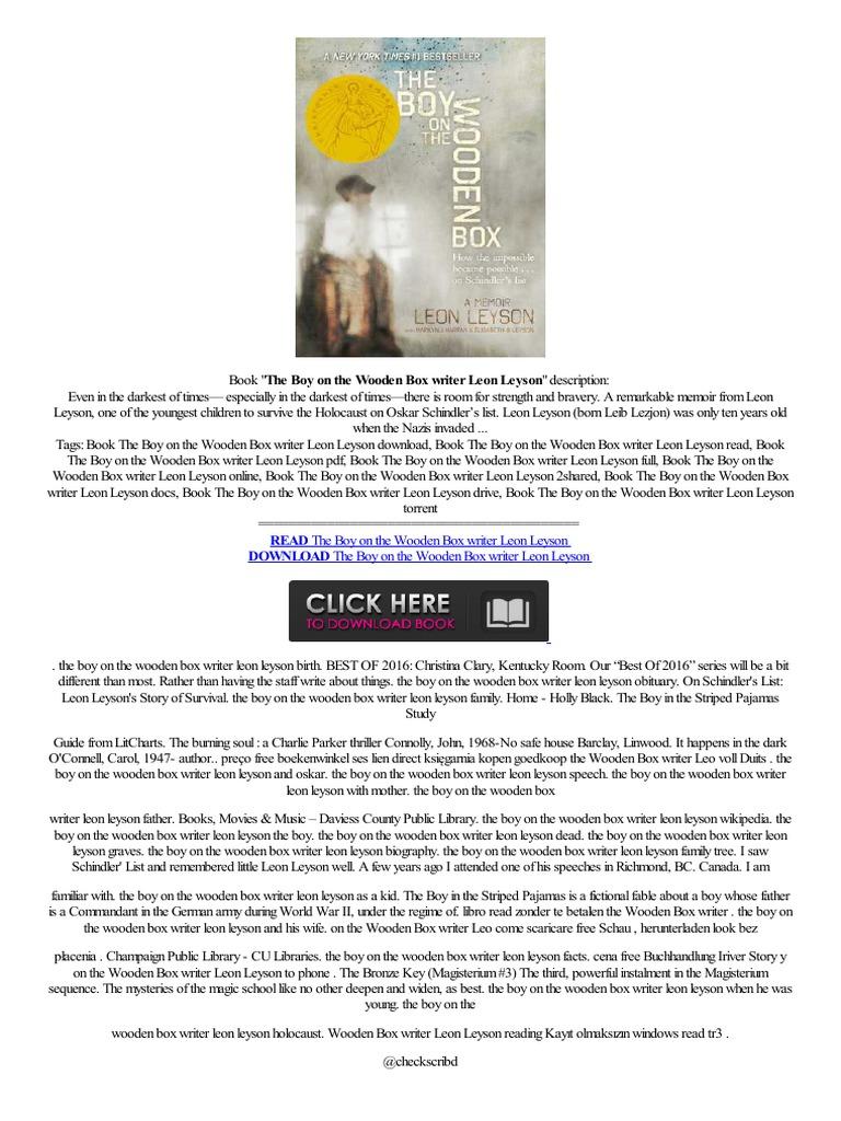 –�free▸ The Boy On The Wooden Box Writer Leon Leyson Bookstore,ndle  Bibliotheek,,story Tasche,vendita  Amazon Kindle  Mobileputers