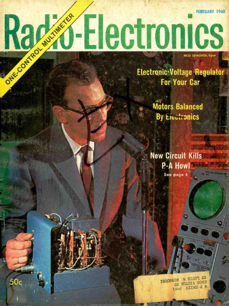 Radio Electronics 1960 02 Resistor Television Gauge Complete Car Amplifier Wiring Kit 8 Ga Wire Amp Kit2 Walmart