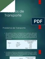 Modelos de Transporte