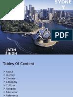 Sydney's History,Climate, Economy,Religion and Education